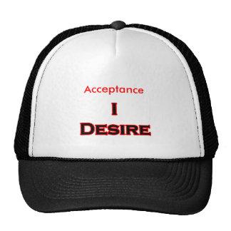 Deseo la aceptación gorras