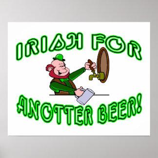 Deseo para otro estilo del irlandés de la cerveza posters