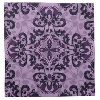 Deseo púrpura del damasco servilleta