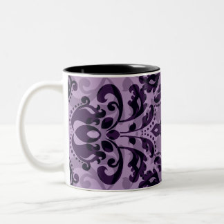 Deseo púrpura del damasco taza