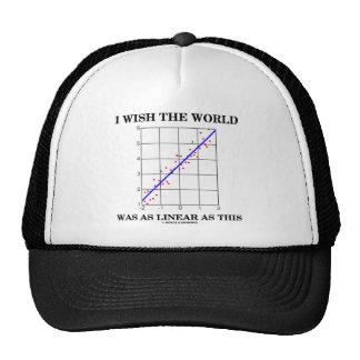 Deseo que el mundo fuera tan linear como esto (los gorras de camionero