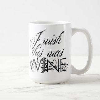 Deseo que ésta fuera taza de café del vino