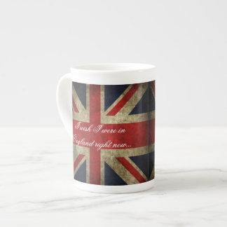 Deseo que estuviera en el té de Inglaterra Union J Taza De Porcelana