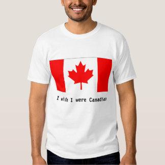 Deseo que fuera canadiense remeras