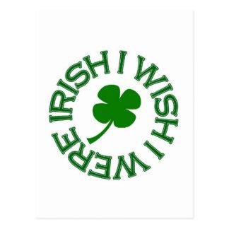 Deseo que fuera irlandés (el verde) tarjetas postales