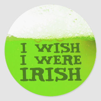 Deseo que fuera pegatina verde irlandés de la