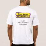 deseo que fuera tan bueno como eso suena camiseta