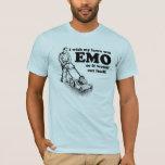 Deseo que mi césped fuera EMO así que se cortaría Playera