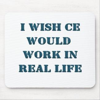 Deseo que motor del tramposo trabajara en vida rea mouse pad