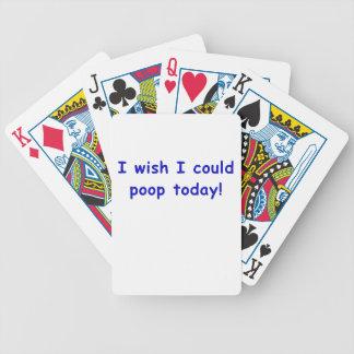 Deseo que podría impulso hoy baraja de cartas bicycle