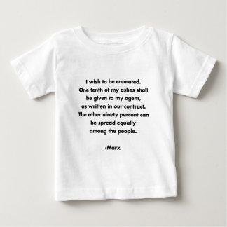 Deseo que se incinerará… Camiseta marxista Playera