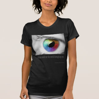 Deseo que usted podría ver camiseta