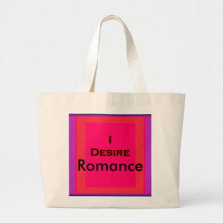 Deseo romance bolsa tela grande