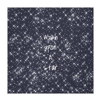 Deseo sobre una estrella impresión en lona