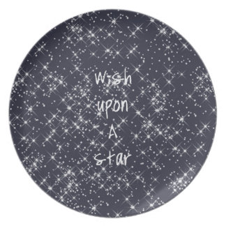 Deseo sobre una estrella plato para fiesta