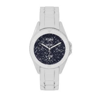 Deseo sobre una estrella reloj de mano