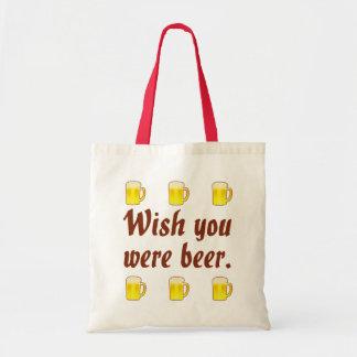 Deseo usted era bolsos de la cerveza bolsa tela barata