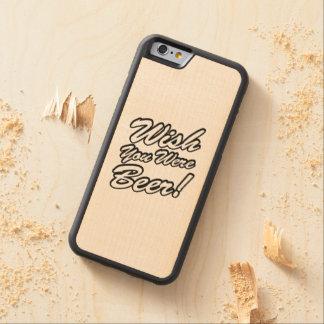 ¡Deseo usted era cerveza! Funda De iPhone 6 Bumper Arce