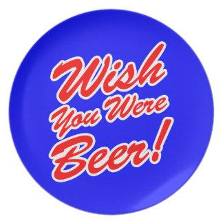 ¡Deseo usted era cerveza! Plato De Comida