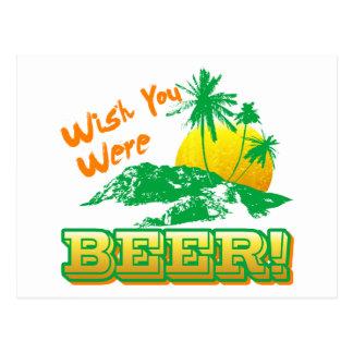 Deseo usted era cerveza postal