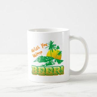 Deseo usted era cerveza taza básica blanca