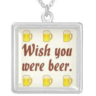 Deseo usted era collares de la cerveza