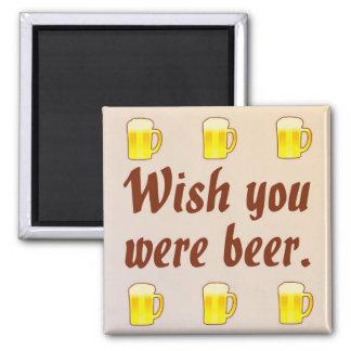 Deseo usted era imán de la cerveza