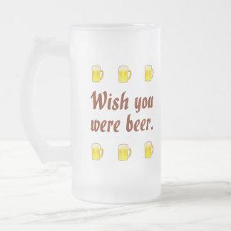 Deseo usted era tazas de cerveza