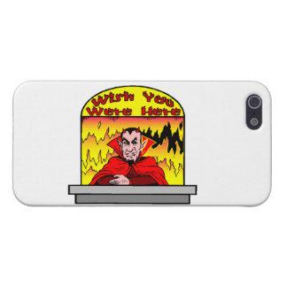 Deseo usted estaba aquí en infierno iPhone 5 carcasas