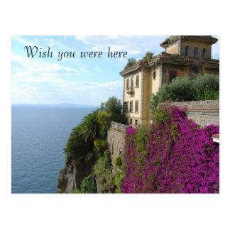 Deseo usted estaba aquí postal