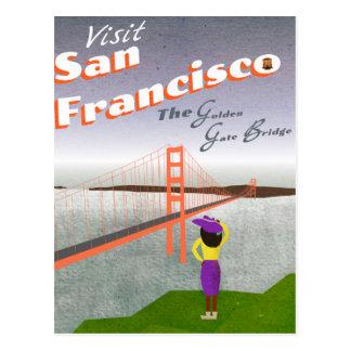 """Deseo usted estaba aquí"" poster de San Francisco Postal"