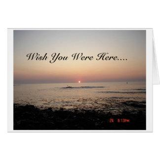 Deseo usted estaba aquí tarjeta
