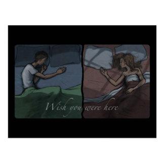 Deseo usted estaba aquí postales