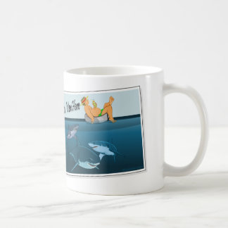 deseo-usted-ser-aquí-tiburones taza