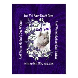 Deseos adorables del día de madres de Terrier de l Tarjeta Postal