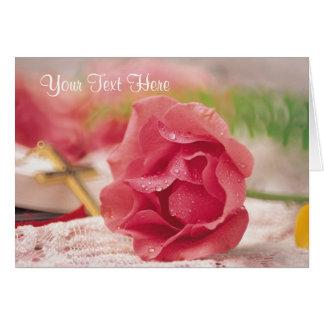 Deseos bendecidos y maravillosos extraordinarios tarjeta de felicitación