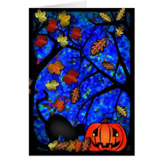Deseos de Halloween Tarjeta