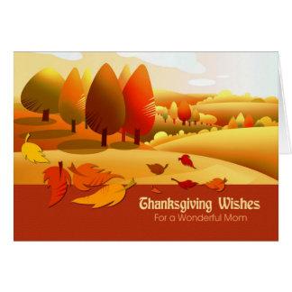 Deseos de la acción de gracias para la tarjeta de