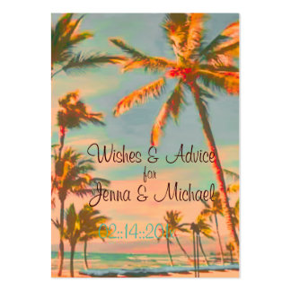 Deseos de la escena de la playa del vintage de Pix Tarjetas De Visita