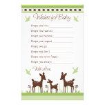 Deseos de la familia de los ciervos del sauce para papelería de diseño