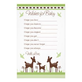 Deseos de la familia de los ciervos del sauce para papeleria de diseño