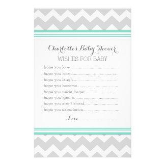 Deseos de la fiesta de bienvenida al bebé para el  papeleria
