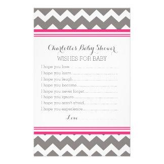 Deseos de la fiesta de bienvenida al bebé para el  papeleria de diseño