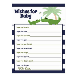 Deseos de la mamá del bebé del cocodrilo para las postal