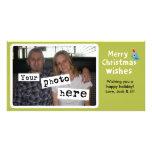 Deseos de las Felices Navidad Plantilla Para Tarjeta De Foto
