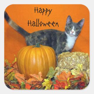 Deseos de princesa Tiana usted un feliz Halloween Pegatinas Cuadradases