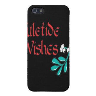 Deseos de Yuletide iPhone 5 Cárcasas