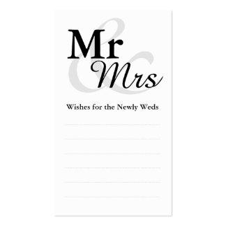Deseos del boda de Mr&Mrs Tarjetas De Visita