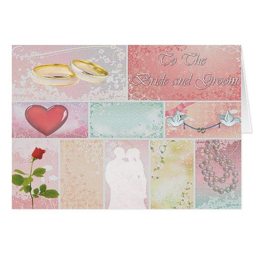Deseos del boda del remiendo felicitacion