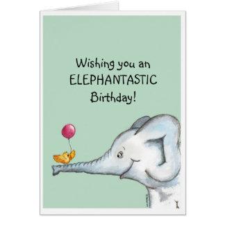 Deseos del cumpleaños de Elephantastic Tarjeta